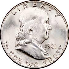 1961 Half Dollar Value Chart 1961 D 50c Ms Franklin Half Dollars Ngc