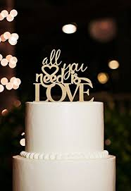 All You Need Is Love Cake Topper Unique Wedding Cake Topper Romantic