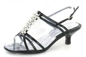 get ations womens black wide fit low heel wedding evening prom sandals shoes 3 8