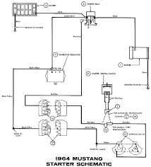 1964 mustang wiring diagrams average joe restoration Wiring Diagram Starter Solenoid starter, starter relay wiring diagram starter solenoid 94 f150
