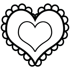 Valentines Hearts Free Printable Coloring Pages Blank Heart ...