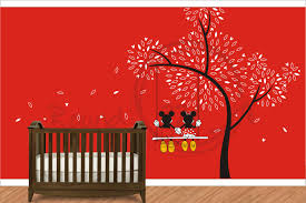 Minnie Mouse Bedroom Wallpaper Minnie Mouse Bedroom Decorations Minnie Rocks The Dots Wall