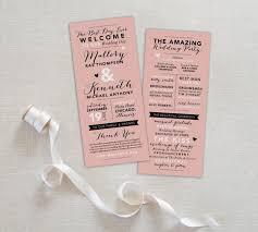 Printable Wedding Program Templates Fun Wedding Program Printable Wedding Program Template Blush