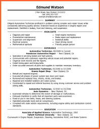 Automotive Technician Resume 100100 automotive technician resume resumesgood 66