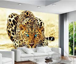 3d wallpaper high quality leopard wall