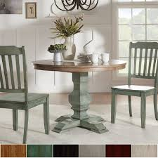 ... delightful solid wood top dining table room eleanor two tone round by  inspire q glass w ...