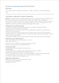 Free Preschool Assistant Teacher Resume With No Experience