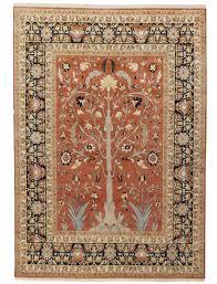 tabriz tree of life design silk pile carpet