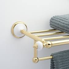 towel bar with towel. Adelaide Towel RackUpdate Your Bathroom With The Elegant Rack. An Easy-to-install Product That Features Decorative Finials And A Refined Look Bar