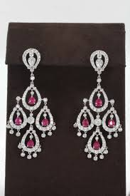 ruby diamond chandelier earring for a stunning earring to add to any collection 3 30 carats of fine pigeon