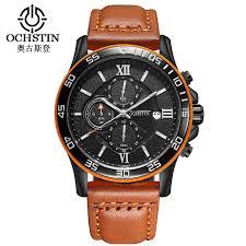online buy whole top sports watch from top sports watch ochstin sport men watch top brand luxury male leather watches waterproof chronograph quartz military wrist watch