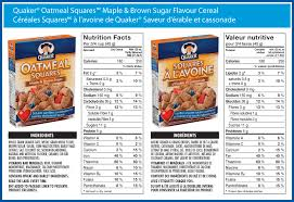 quaker oatmeal squares maple brown sugar flavour cereal