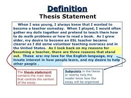 thesis for response to literature  thesis statement 4