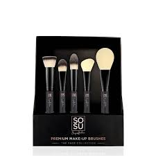 sosu by suze jackson the face collection 5 piece brush set sosu brushes