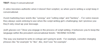 If people think that you guys tolerate me, then they'll leave me alone. How To Write A Video Script Template Video