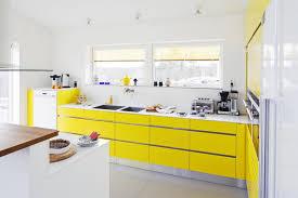 Yellow And Black Kitchen Decor Kitchen Marvelous Yellow Kitchen Design Idea With Glossy