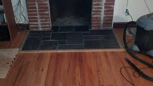 pictures of wood floor around fireplace