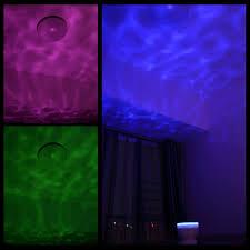 Night Stars Bedroom Lamp Ohuhu Ocean Wave Night Light Projector And Music Player Amazoncom