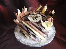 Chocolate Birthday Cake For A 70th Birthday Chocolate Delores Cakes