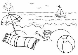 Small Picture Coloring Pages Beach For Preschool Adults To Print Kids Printable