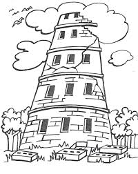 Small Picture Elegant Tower Of Babel Coloring Page 47 On Coloring Site with
