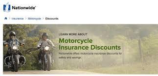 screenshot of nationwide motorcycle insurance