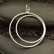s3079 sv chrm sterling silver wire crescent in circle pendant
