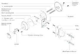 Door Knob Latch Assembly Parts Stuck Schlage
