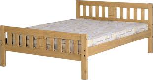 Mexican Pine Bedroom Furniture Rio 46 Bed In Distressed Waxed Pine With Mattress Corona