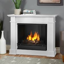real flame devin petite 36 inch gel fireplace with mantel white 1220 w gas log guys