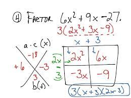Lesson 10 6 Factoring Ax2 Bx C Day 1 Math Algebra Worksheets Last ...