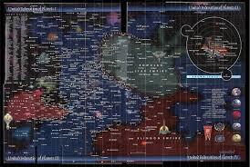 Star Trek Galaxy Chart Map Of The United Federation Of Planets Star Trek Universe