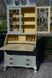 ideas painted hutch pinterest bookcase desk shabby chic painted ball and claw feet secretary two doo