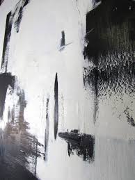 mid century modern large black and white oil on canvas abstract paintings by guillermo calles
