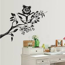 wall arts designs chic and creative owl wall art with wise decal by silhouette design