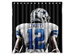 american football player dallas cowboys nfl design polyester fabric bath shower curtain 180x180 cm waterproof and