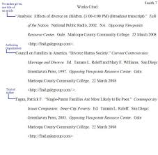 Mla Format Works Cited Example Diagrams And Formats Corner