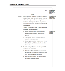 Essay Outline Template Mla Format Mla Format Template