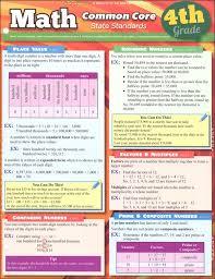 Common Core Math Standards Chart Math Common Core State Standards 4th Grade Quick Study