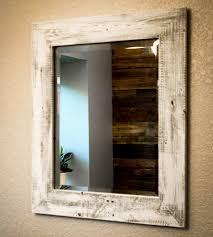 reclaimed wood bathroom mirror. Whitewashed Reclaimed Wood Mirror Bathroom E
