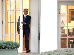 obama oval office. US President Barack Obama Departs The Oval Office For Last Time As President, At E