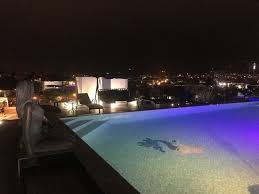 Infinity pool at night time Picture of Menso at Southbank