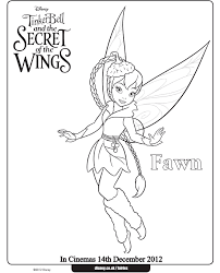 Fawn Coloring Pages Tinkerbell Tattoo Ideas Tinkerbell