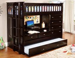 twin loft bed with desk and storage designs