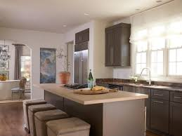 Neutral Kitchen White Glass Backsplash Tiles Light Wood Countertops Neutral