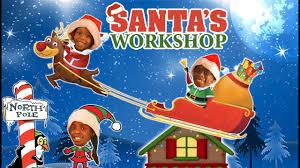 santa s elves making toys in real life green kids sleigh ride