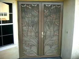 double sliding screen door sliding security screen door double security doors interior home steel shield security