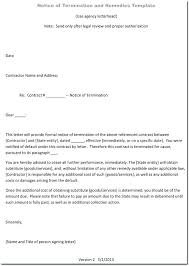 Termination Of Employment Letter Template Termination Employment Letter Within Probationary Period Employee At