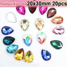 20x30mm <b>Big</b> Size Crystals <b>Pointback</b> Teardrop Evening Dress ...