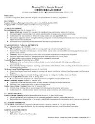 Sample Nursing Resume Proyectoportal Com